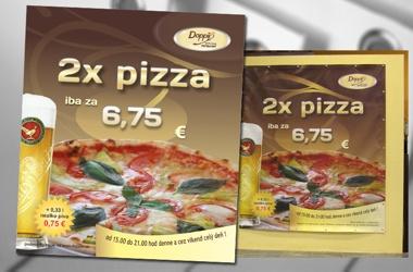 reklamný banner - 2x pizza