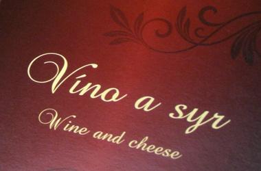 ponuková karta - víno a syry