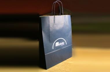 taška papierová potlačou loga